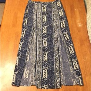 EA Floral Maxi Skirt With Side Slits